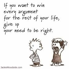 argument need to be right